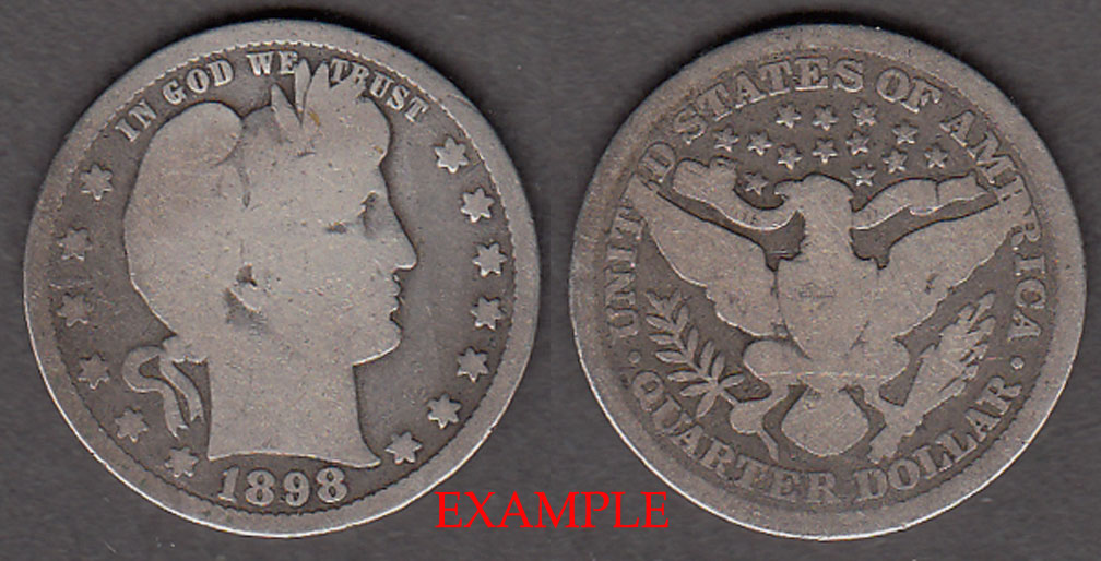 1898 25c US Barber quarter