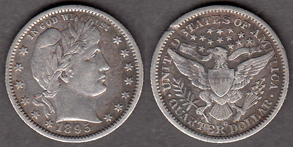 1895-O 25c US Barber silver quarter