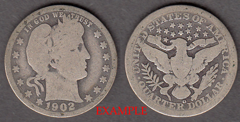 1902-O 25c US Barber silver quarter
