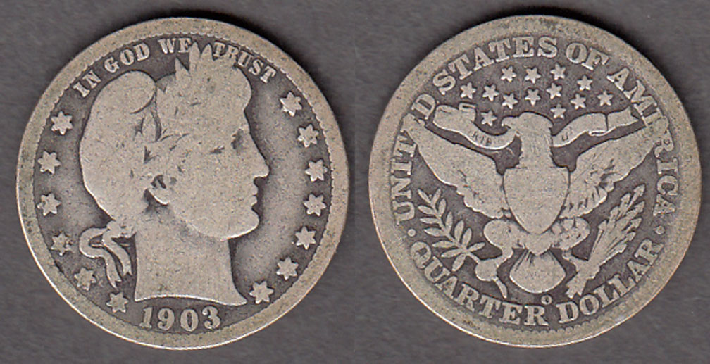 1903-O 25c US Barber silver quarter
