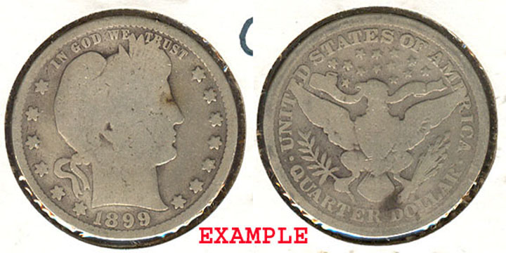 1899 25c US Barber quarter