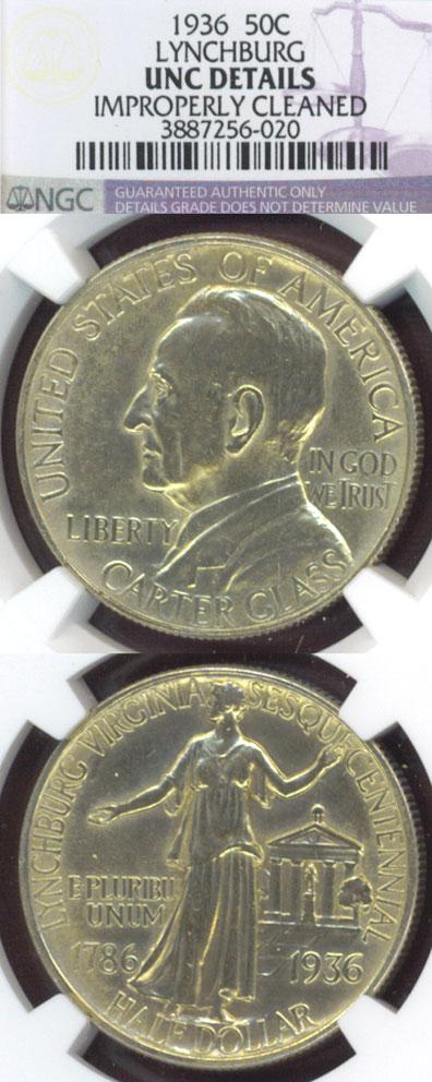 1936 Lynchburg Virginia commemorative silver half dollar