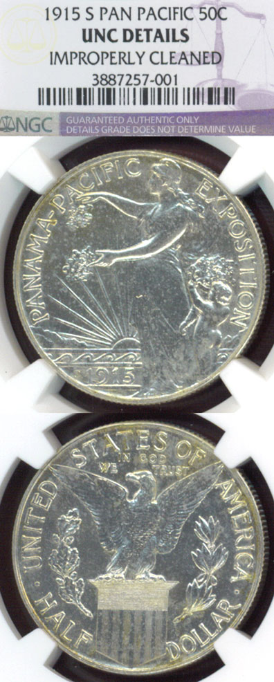"1915-S 50c ""Panama Pacific"" US silver commemotative half dollar"