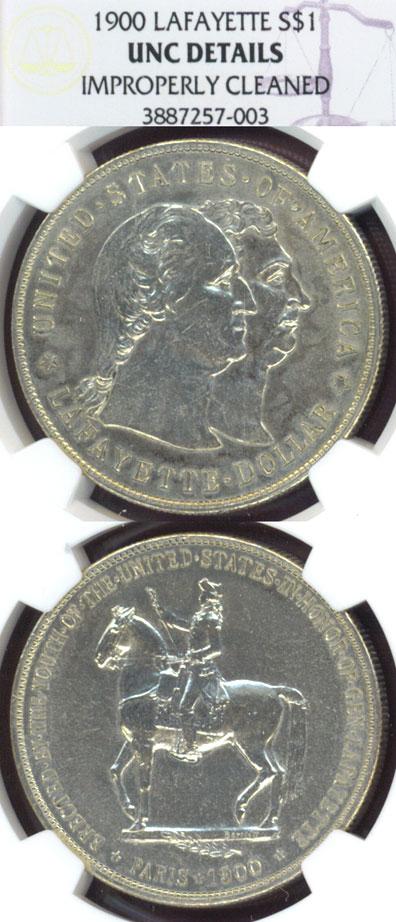 1900 Lafayette Dollar US Silver dollar commemorative