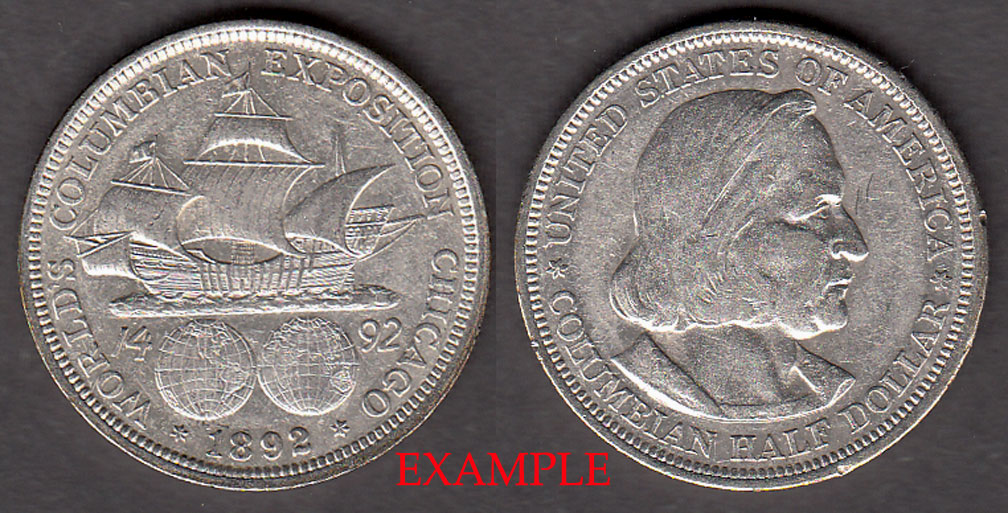 1892 Columbian Exposition US commerative silver half dollar