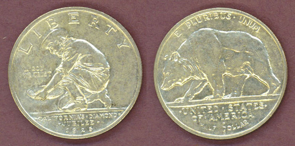 1925-S California Jubilee silver half dollar commemorative