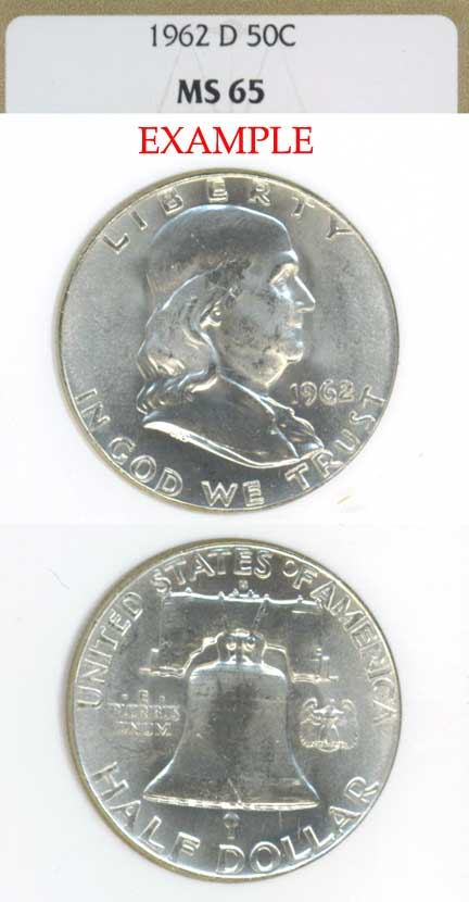 1962-D 50c US Franklin silver half dollar NGC MS 65