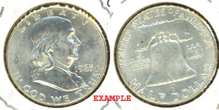 1963 50c Franklin silver half dollar