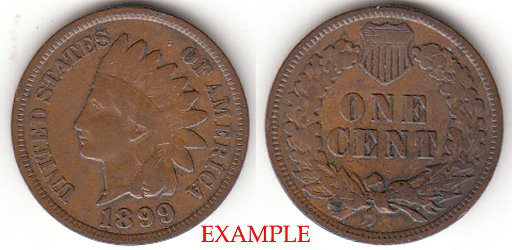 1899 1c Indian Head Penny, Indian head cent