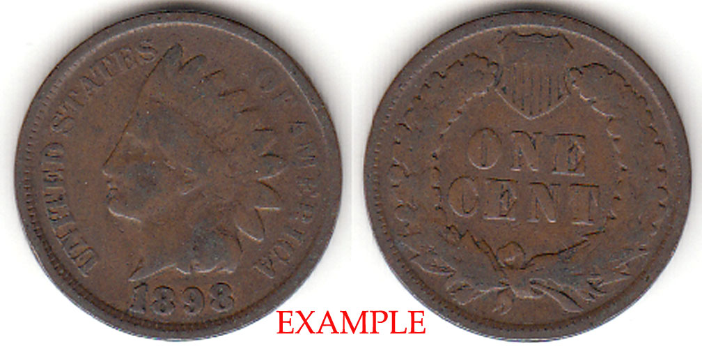 1898 1c Indian Head Penny, Indian head cent