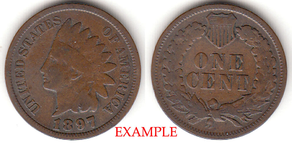 1897 1c Indian Head Penny, Indian head cent