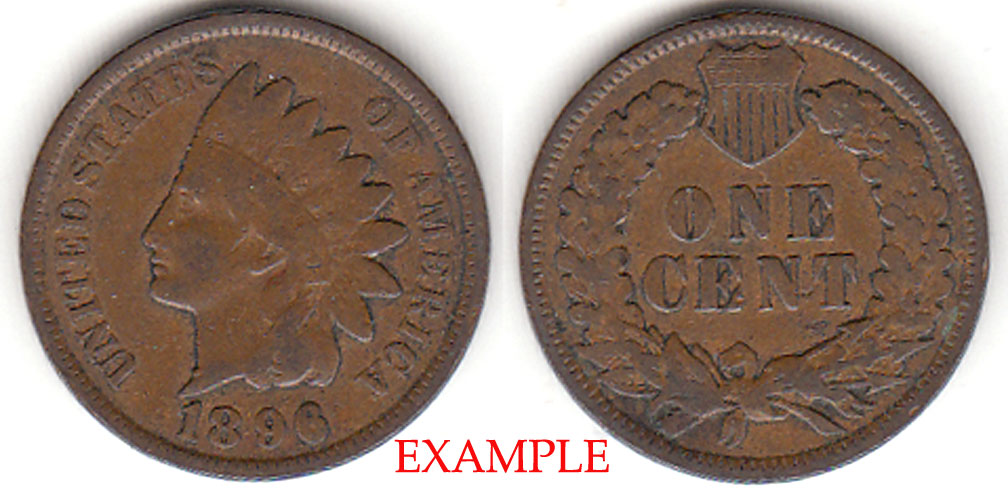 1896 1c Indian Head Penny, Indian head cent