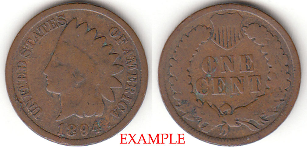 1894 1c Indian Head Penny, Indian head cent