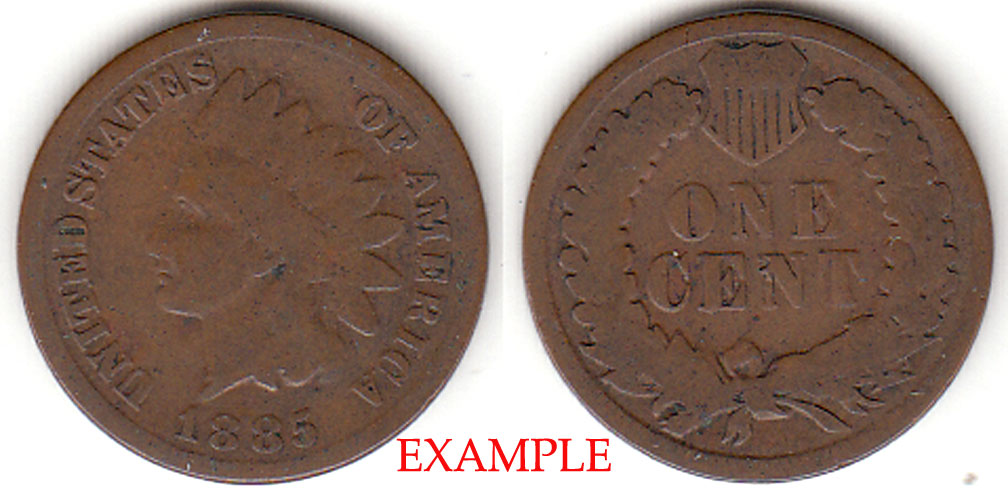 1885 1c Indian Head Penny, Indian head cent