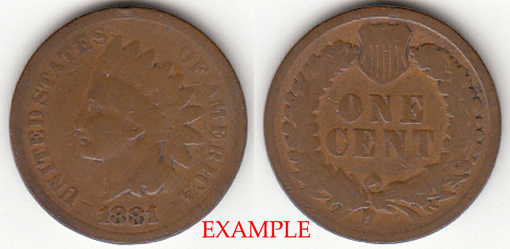 1881 1c Indian Head Penny, Indian head cent
