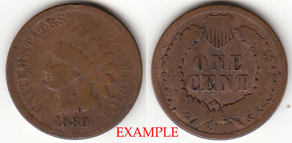1880 Indian Head Penny, Indian head cent