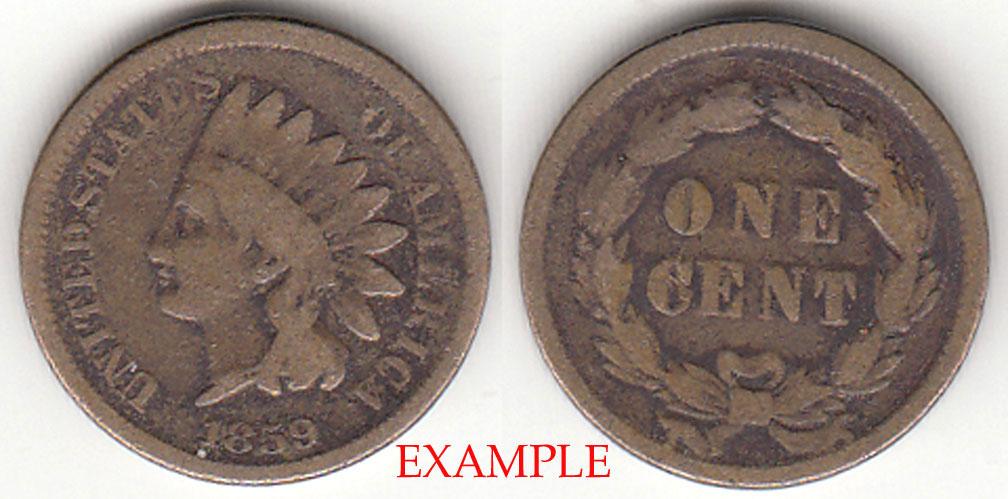 1859 1c Indian Cent