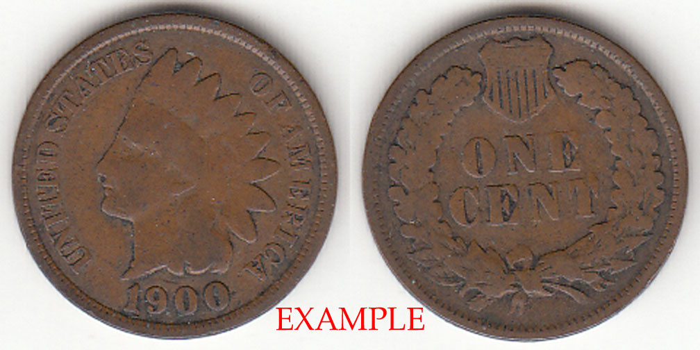 1900 1c US Indian cent