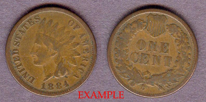 1884 1c Indian Cent