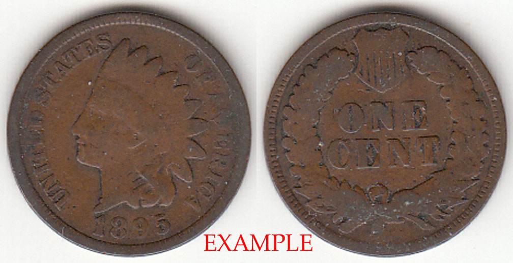 1895 1c US Indian cent