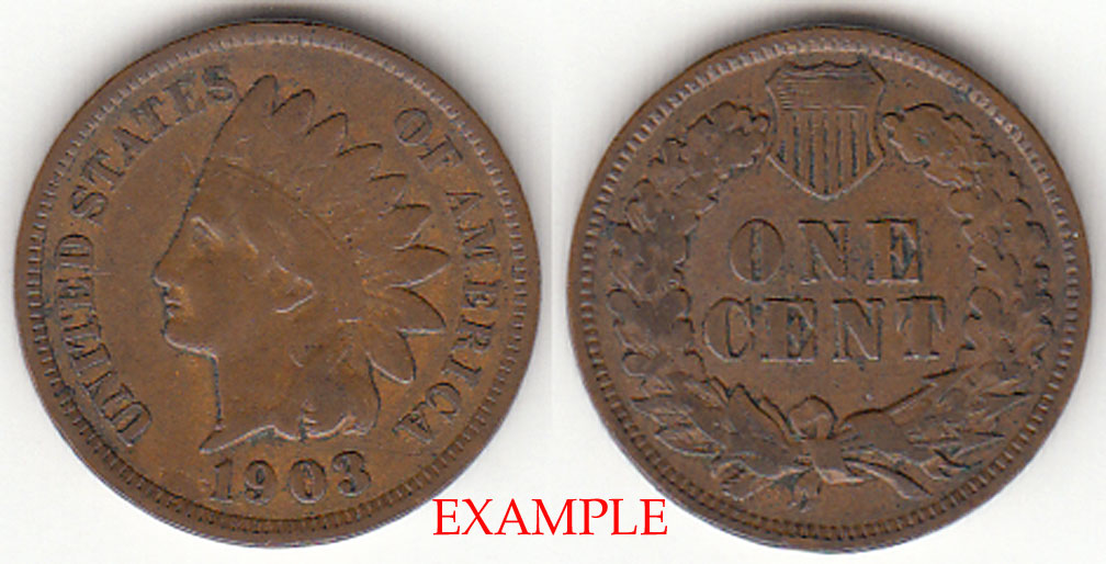 1903 1c US Indian cent