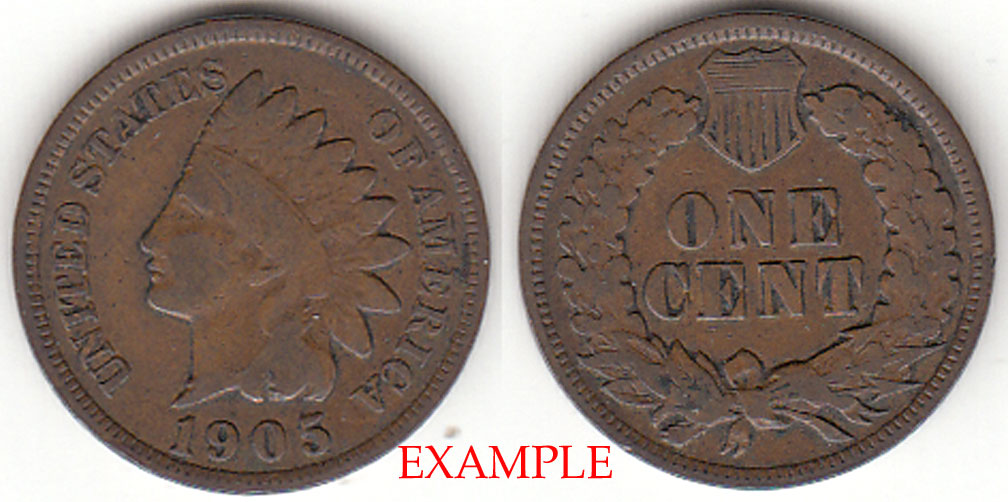1905 1c US Indian cent