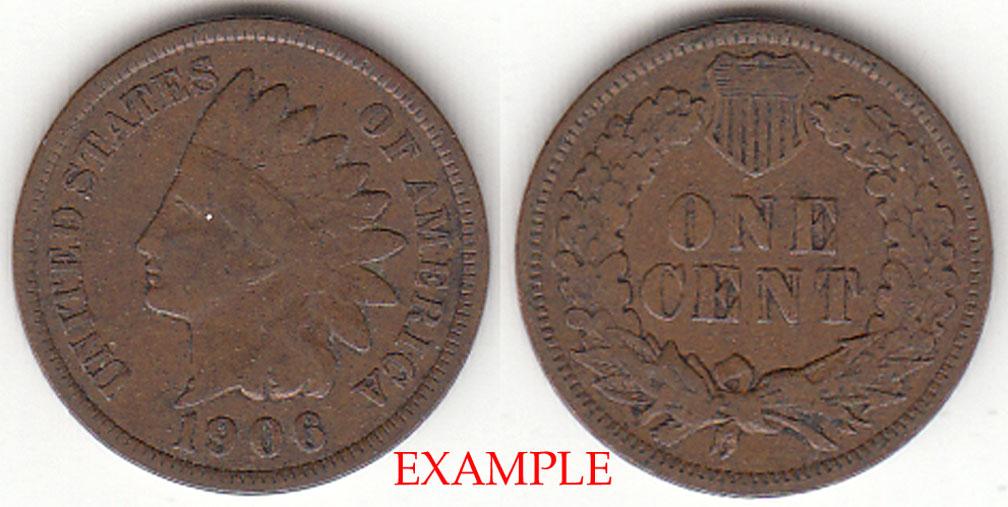 1906 1c US Indian cent