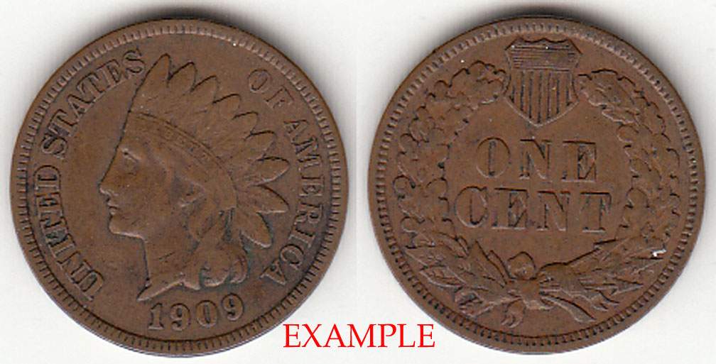 1909 1c US Indian cent