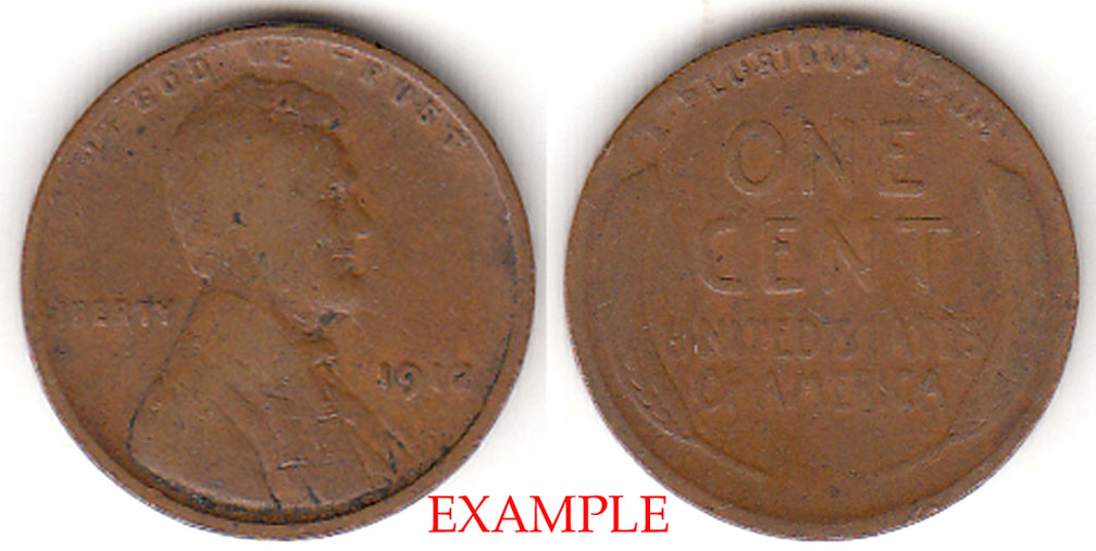 1912 1c Lincoln Cent