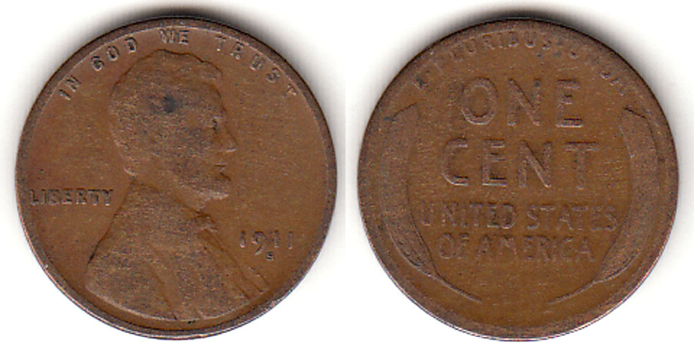 1911-S 1c Lincoln Cent