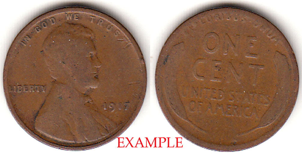 1917 1c Lincoln Cent