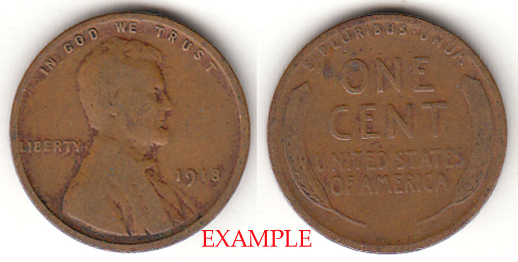 1918 1c Lincoln Cent