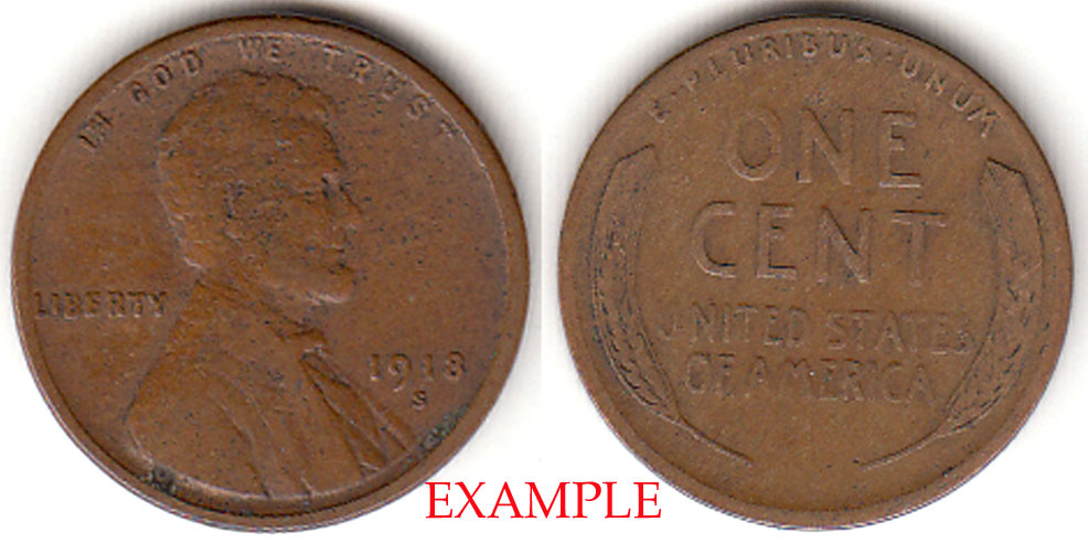 1918-S 1c Lincoln Cent