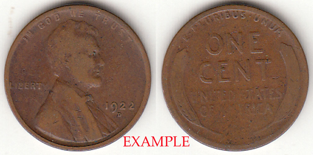 1922-D 1c Lincoln cent wheat cent