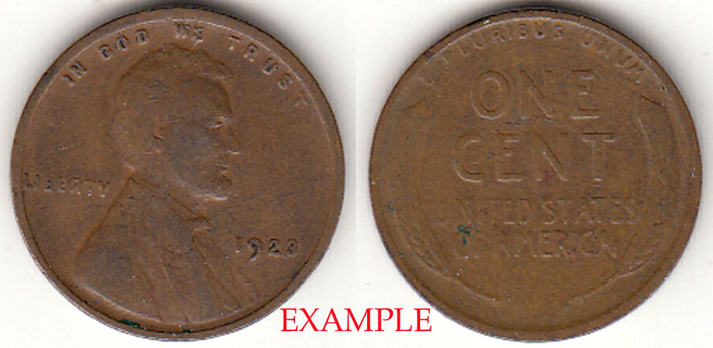 1923 1c Lincoln cent wheat cent