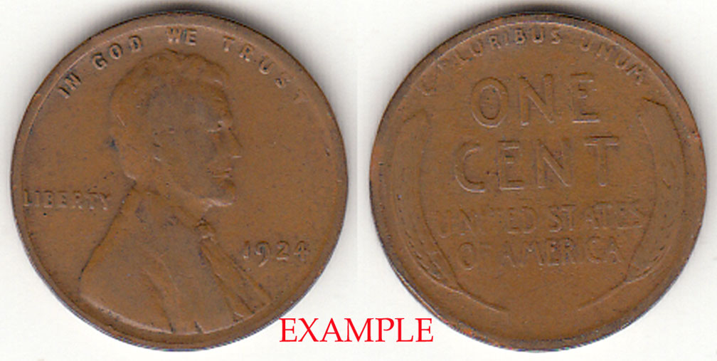 1924 1c Lincoln cent wheat cent