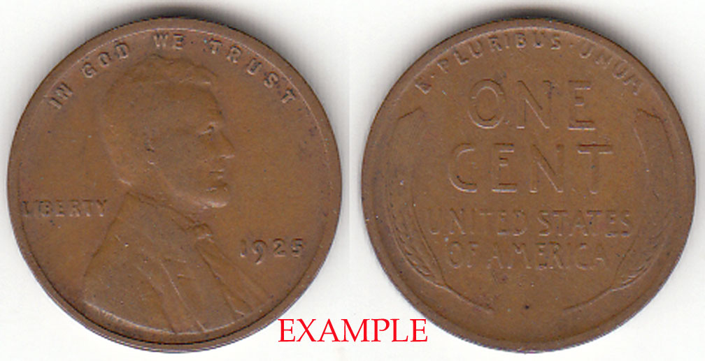 1925 1c US Lincoln cent
