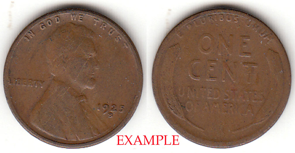 1925-S 1c US Lincoln Cent