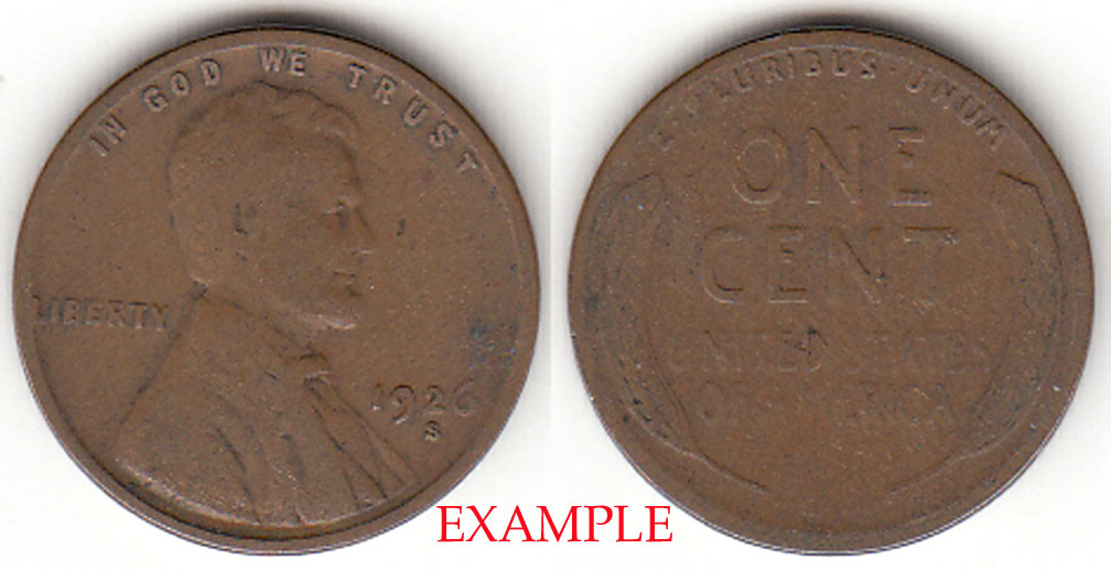 1926-S 1c US Lincoln Cent