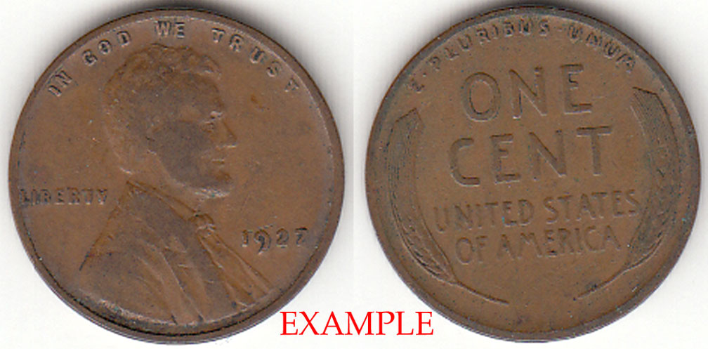 1927 1c US Lincoln cent