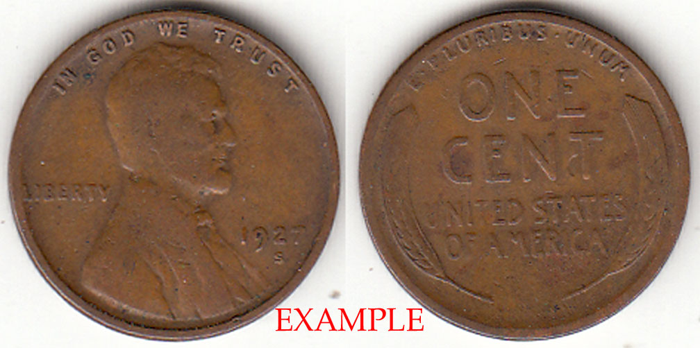 1927-S 1c US Lincoln wheat cent