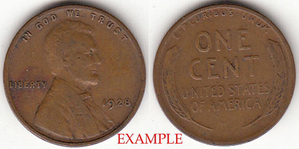 1928 1c US Lincoln wheat cent