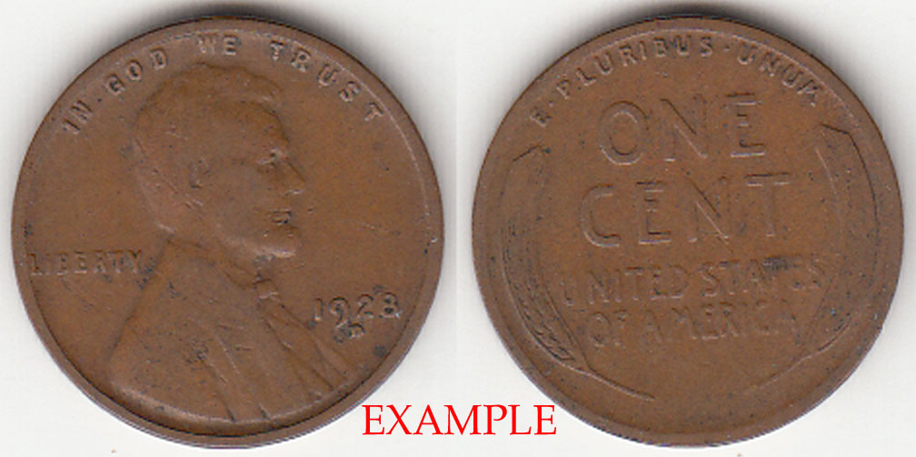 1928-D 1c US Lincoln wheat cent