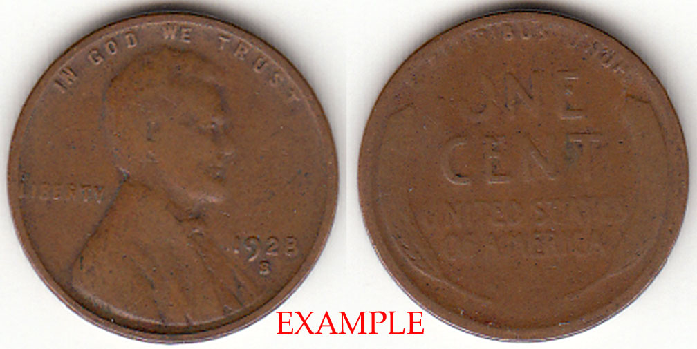 1928-S 1c US Lincoln wheat cent