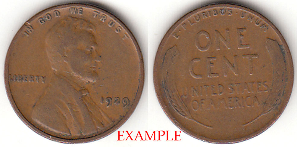 1929 1c US Lincoln wheat cent