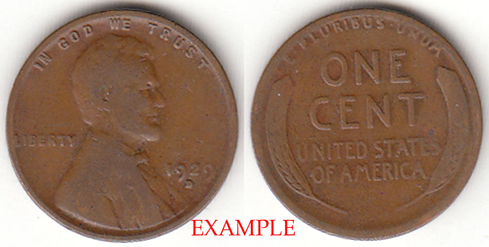 1929-D 1c US Lincoln wheat cent