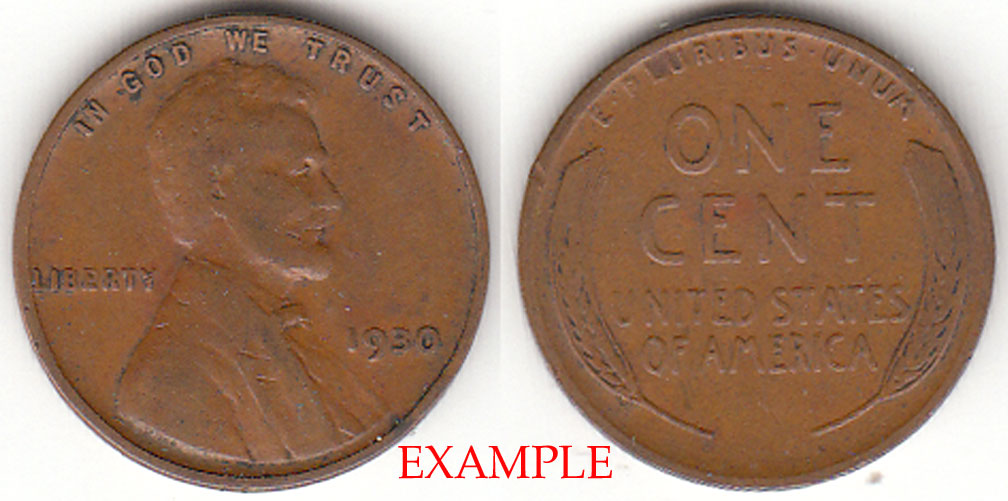 1930 1c US Lincoln wheat cent