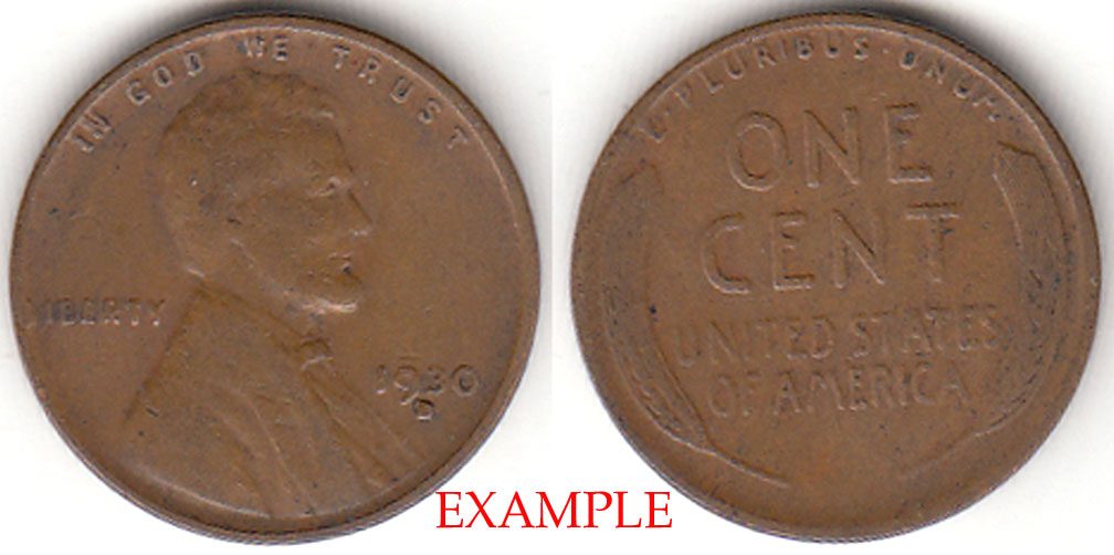 1930-D 1c US Lincoln wheat cent