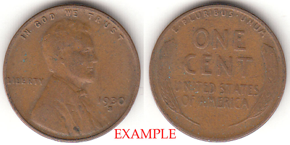 1930-S 1c US Lincoln wheat cent
