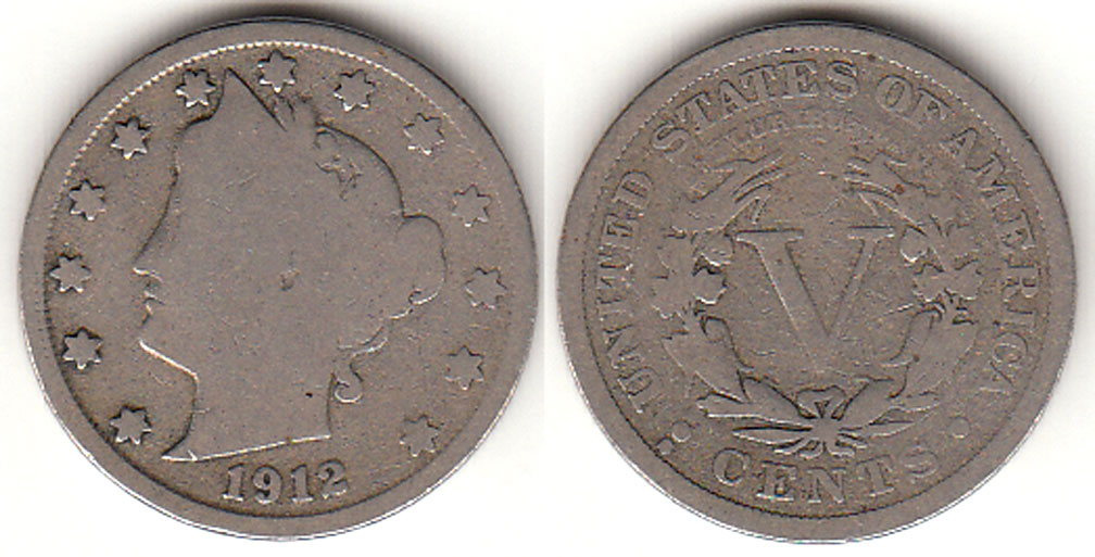 1912-S US Liberty V nickel